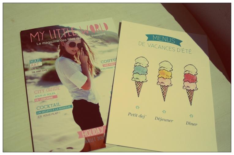 Magazine et petit dessin