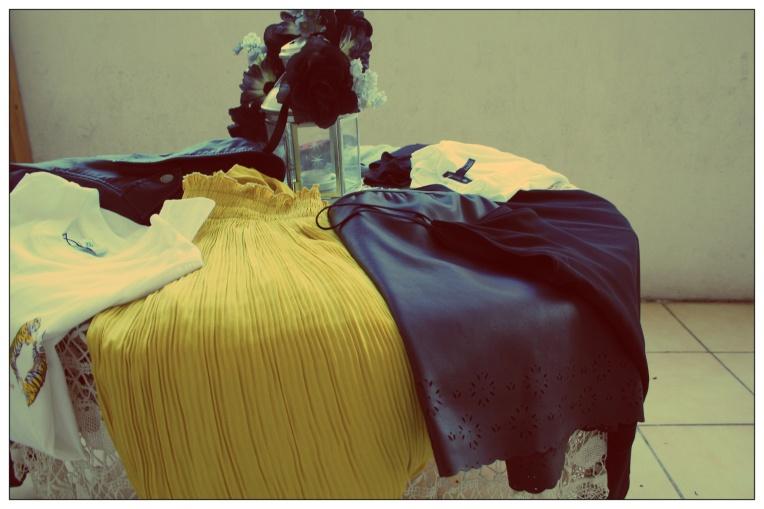 Jupe Jaune Zara Jupe similicuir Zara